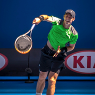 Andy Murray playing in tennis tournament