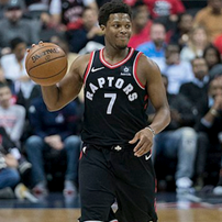 Kyle Lowry playing for Raptors