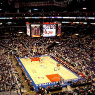 Lakers game in action
