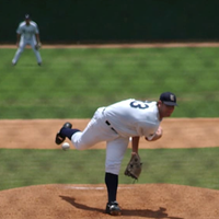 MLB pitcher in action
