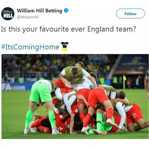 Twitter Removes William Hill Logo From 2018 WC Hashtag