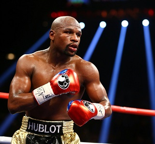 Mayweather in the ring