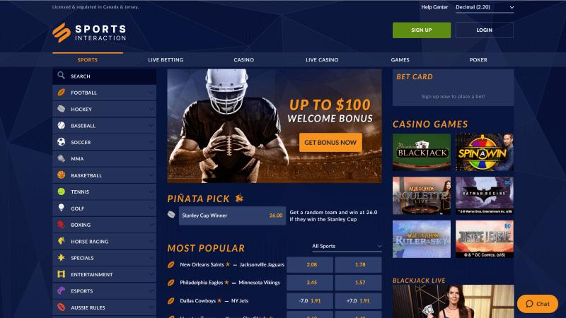 Sports Interaction ScreenShot