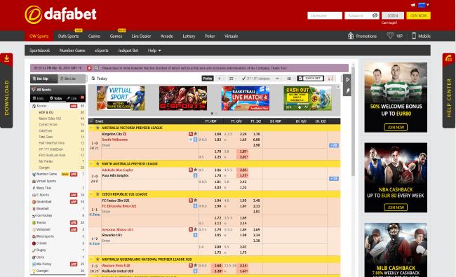 dafabet live betting